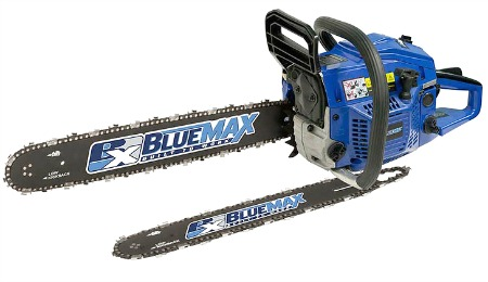 blue max 20 inch chainsaw plus extra bar and chain